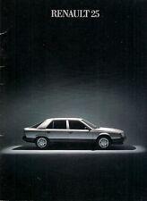 Renault 25 Early 1985 UK Market Sales Brochure V6 Injection GTX GTS TS