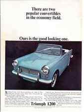 1965 TRIUMPH 1200 CONVERTIBLE  ~  RARE CLASSIC ORIGINAL AD