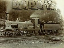 REPRO PHOTO LOCOMOTIVE A VAPEUR TRAIN CHARBON CLUNY  PANNEAU MURAL EN BOIS HDF