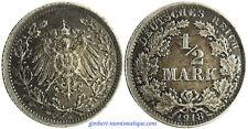 ALEMANIA , 1/2 MARCOS PLATA , 1918 A