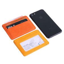 Card Holder Wallet Pocket Credit ID Leather Purse Money Cash Travel Mini Slim