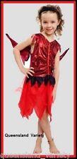 RED FAIRY Naughty NYMPH Girsl COSTUME Halloween Party Fancy Dress sz 3-4 5-6 7-9