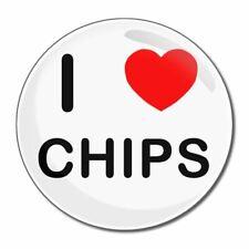 I Love Chips-tondo Specchio in vetro compatta 55mm/77mm badgebeast