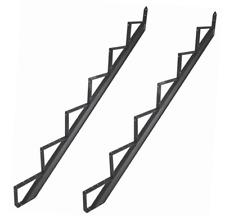 Treppenwange Treppenwangen Treppenrahmen Alu Schwarz 2 - 6 Trittstufen