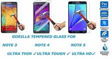 NEW 9H HARD PREMIUM TEMPERED HD GORILLA GLASS FOR SAMSUNG GALAXY NOTE 3 4 5 THIN