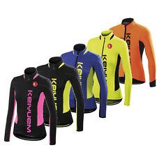 Women's Cycling Jersey Long Sleeve Bike Cycle Jersey Shirts Coolmax 5 Colors