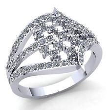 0.75carat Round Cut Diamond Ladies Twisted MultiRow Wedding Band 14K Gold