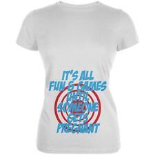 Fun And Games Get Pregnant Juniors Soft T Shirt