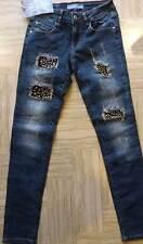 Jeans donna Baci & Abbracci elasticizzato slim con applicazioni perle art BD20