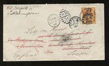 AUSTRALIA VICTORIA 1896 to GB REDIRECTED TWICE..NEW ZEALAND AGENT LADY VON HAAST
