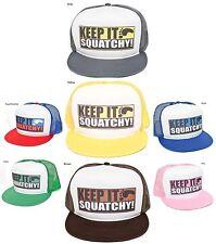 "New Retreo ""KEEP IT SQUATCHY"" Gone Squatchin BigFoot Funny Hat Cap Snapback"