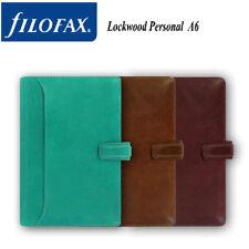Filofax A5/ Personal Size Lockwood /Zip Diary Plan Aqua Green Leather Organiser
