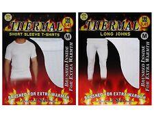 1 Mens THERMAL Short Sleeve T-Shirt Vest & Long Johns WINTER Ski Underwear Set