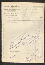 "PARIS (III°) USINE de VETEMENTS en CUIR ""Maison LEGRAND"" en 1933"