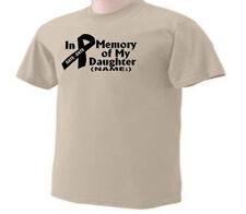 In Memory Of My Daughter Memorial Personalized Name Date T-Shirt