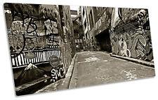 Melbourne Graffiti Alley BOX FRAME CANVAS ART PANORAMA Print