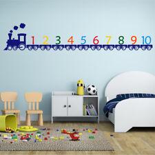 TRAIN Wall Sticker Learning Numbers Girls Boys Bedroom Nursery Vinyl Art Decal