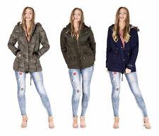 NEW Womens OVERSIZED HOOD PARKA Ladies JACKET FISHTAIL COAT PADDED Size 8 - 22