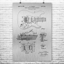 Stratocaster Guitar Poster Print Musician Gift Recording Studio Art Guitar Decor
