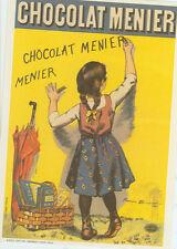 CHOCOLAT MENIER CHILD WRITING/FIRMIN BOUISSET CHOCOLATE  POSTCARD1984 (DA20*)