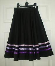 RAD OR IDTA CHARACTER BALLET SKIRT- 3 shades of purple RIBBONS-Elastic Waist