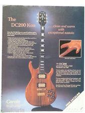retro magazine advert 1981 CARVIN koa dc200