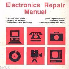 Electronics Repair Manual * Troubleshooting * CDROM * PDF