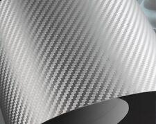 FILM VINYLE CARBONE 3D GRIS ARGENT  EN 152 CM + Raclette
