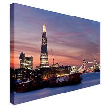 Sunset on the new London skyline - Canvas Art Cheap Print - Multiple Sizes