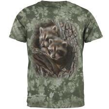 Baby Raccoons Tight Fit Mens T Shirt