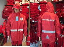 Giubbino Impermeabile Guscio  Tipo K-Way Croce Rossa Italiana CRI C.R.I. .K-CRI