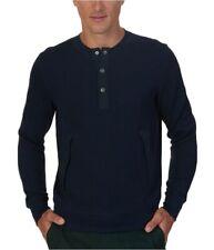 Nautica Mens Ribbed Henley Shirt