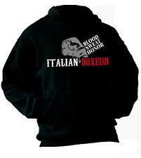 Felpa con cappuccio Sport hoodie KP08 Boxe Italian Boxeur Blood Sweat Honor