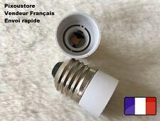 Adaptateur douille E14 mâle  - E27  femelle pour ampoule culot neuf 8-35