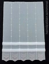 Clip Panneaux Scheibengardine Gardine Scheibenhänger Raffrollo weiß B=0,32-1,31