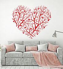 Vinyl Wall Decal Heart Love Tree Beautiful Branch Romance Stickers (1395ig)