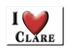 SOUVENIR UK - ENGLAND FRIDGE MAGNET UNITED KINGDOM I LOVE CLARE (OXFORDSHIRE)