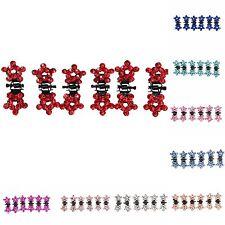 6 x Mini Haarklammern Strass Hochzeit Haarclip Haarkneifer Stern Claw 9 Farben