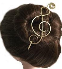 Treble Clef Hair Barrette Hair Bun Holder Hair Stick Slide Clip Gift Women