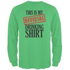 St. Patricks Day - Official Drinking Shirt Irish Green Adult Long Sleeve T-Shirt