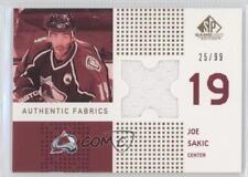 2002 SP Game Used Authentic Fabrics Gold AF-SC Joe Sakic Colorado Avalanche Card