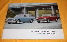 Triumph 2000 Saloon and Estate Car 1966 Prospekt Brochure Depliant Catalogue BL