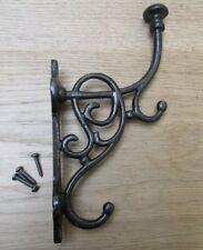 PACK OF 5 RETRO LONDON SW1 rustic old vintage hanging hat /& coat hanger peg