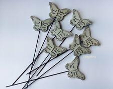 In Loving Memory Butterfly Sentiment Grave Graveside Stone Memorial Stick Stake