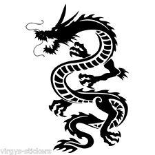 """Sticker Déco Mur ou voiture """"Dragon""""  18 coloris, 20x14cm à 42x30cm (DRAG003)"""