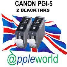 2 CANON PGI-5 NERO COMPATIBILE CARTUCCE D'INCHIOSTRO [ ridotto in schegge ]