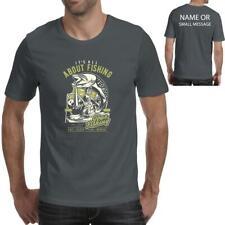 Fishing Fisherman Hobby all about Retro vintage Mens Printed T-Shirt