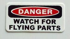 3 - DangerWatch For Flying Parts Hard Hat, Toolbox, Trash ,Helmet Sticker