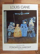 LOUIS*CANE*FONDATION*MAEGHT*AFFICHE*ART*1983*VINTAGE*OR