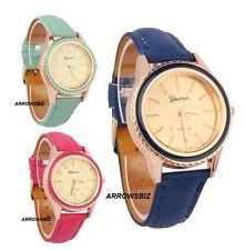 Vogue Fashion Analog Wrist Watch Leather Strap Quartz Various Colours